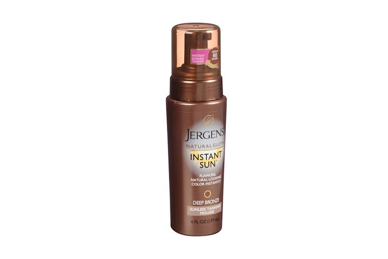 Jergens Natural Glow Instant Sun Deep Bronze Sunless Tanning Mousse (Photo: Courtesy of Jergens)