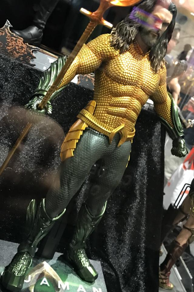 Sideshow Collectibles' screen-accurate Aquaman statue was on display at Comic-Con. (Photo: Marcus Errico/Yahoo Entertainment)