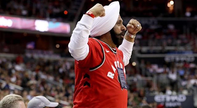 Toronto Raptors superfan Nav Bhatia opens up about his fandom on Inside the Green Room with Danny Green. (Getty Images)