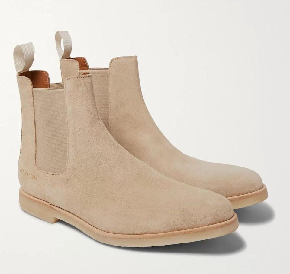 suede boots mens common projects