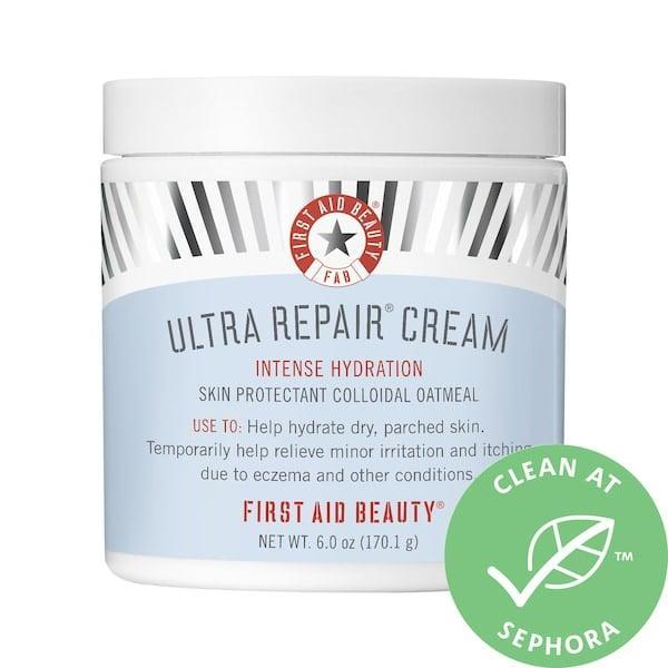 <p>The colloidal oatmeal and shea butter in this <span>First Aid Beauty Ultra Repair Cream Intense Hydration</span> ($14-$34) provide extra relief for dry skin, especially for anyone suffering from rashes or eczema. </p>