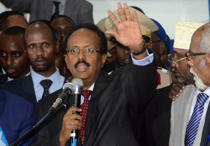 Newly elected Somalia President Mohamed Abdullahi Mohamed, better known as Farmajo, said at his inauguration that there was no quick fix for the country's woes (AFP Photo/MUSTAFA HAJI ABDINUR)