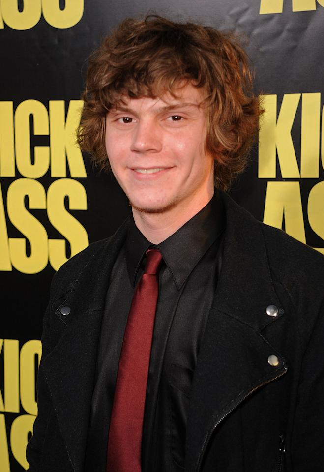 """<a href=""""http://movies.yahoo.com/movie/contributor/1808532633"""">Evan Peters</a> at the Los Angeles premiere of <a href=""""http://movies.yahoo.com/movie/1810063108/info"""">Kick-Ass</a> - 04/13/2010"""