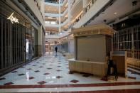 A view of a deserted shopping mall during a lockdown due to the coronavirus disease (COVID-19) outbreak, in Kuala Lumpur