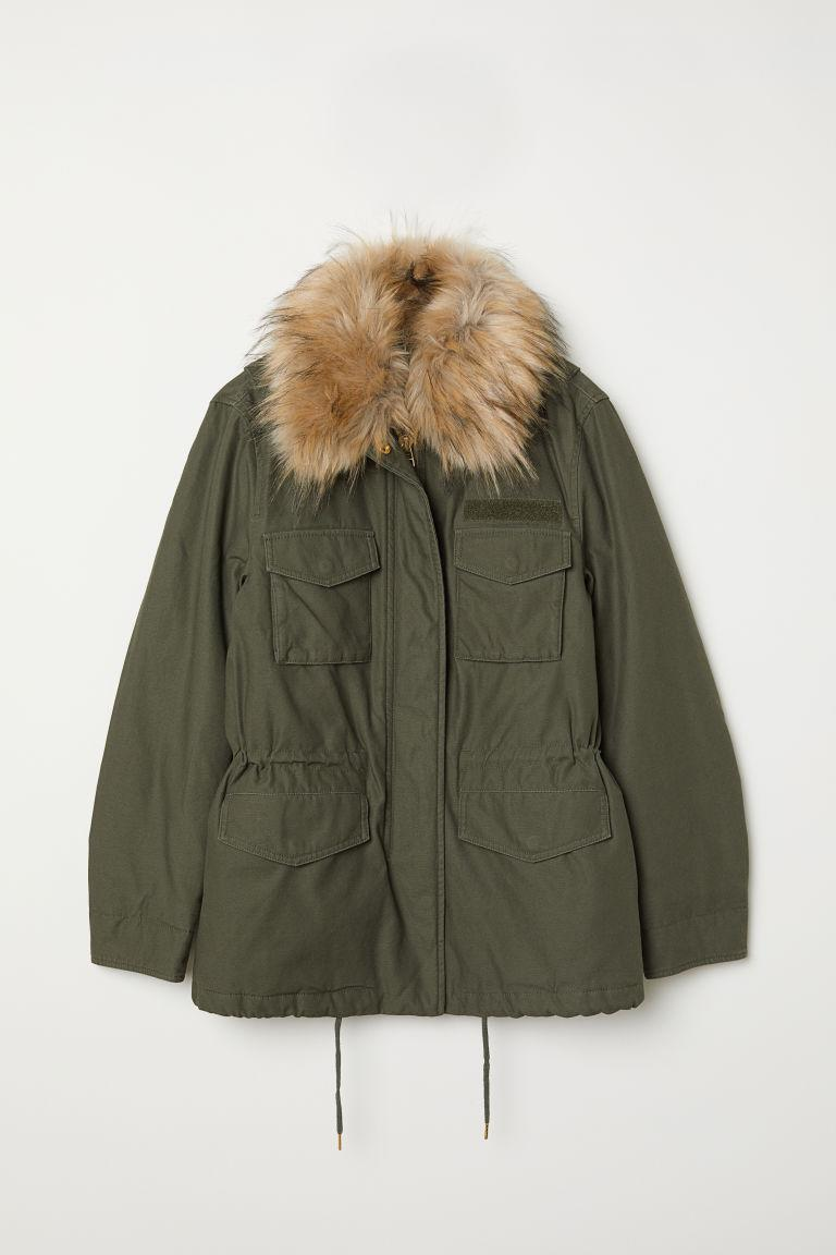"""<p>An army-green coat is always cute and functional – and we love that this one cinches at the waist for a more shape-defining look.<br><strong>SHOP IT: <a href=""""https://fave.co/2OuTU9Q"""" rel=""""nofollow noopener"""" target=""""_blank"""" data-ylk=""""slk:H&M, $20"""" class=""""link rapid-noclick-resp"""">H&M, $20</a> </strong>(regular $70)<br><em>(Photo courtesy H&M)</em> </p>"""