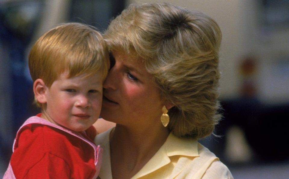 Harry firmly believes that his mother is still looking after him - Hulton Royals Collection