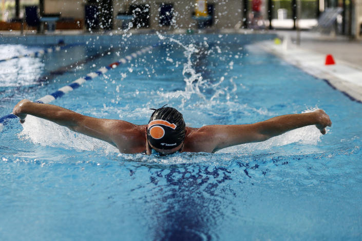 Swimmers will be told to avoid using strokes like the butterfly at busy times in the pool. (PA)
