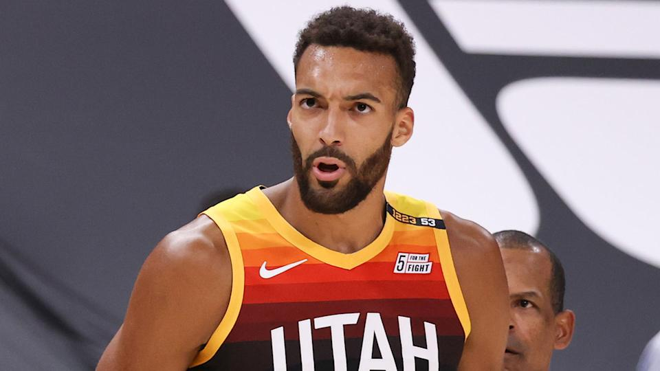 Utah Jazz center Rudy Gobert was the runaway winner of the NBA's Defensive Player of the Year award, the third time in his career he's won the award. (Photo by Melissa Majchrzak/NBAE via Getty Images)