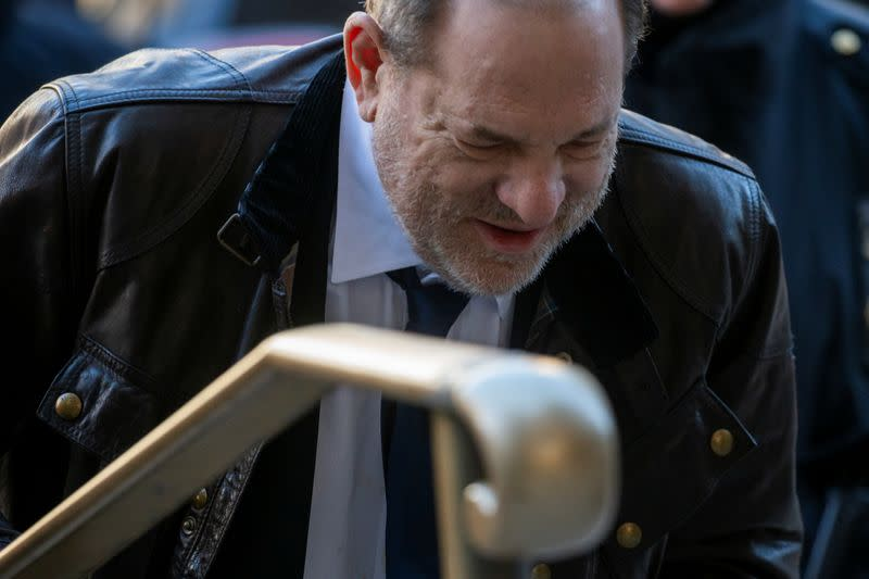 Film producer Weinstein arrives at New York Criminal Court for his sexual assault trial in the Manhattan borough of New York City