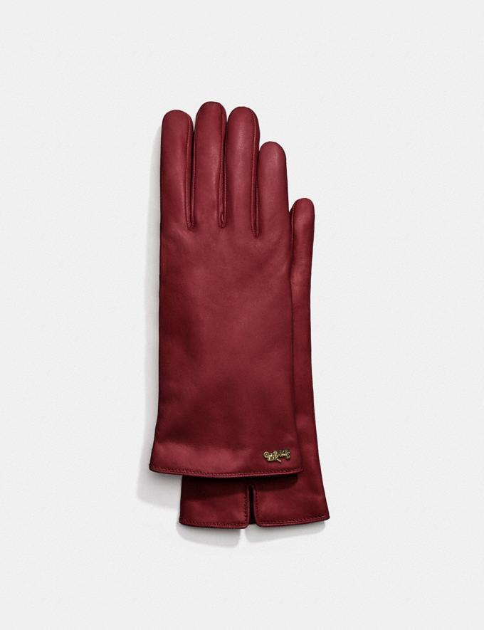 Horse And Carriage Leather Tech Gloves, Coach, $74 (originally $175)