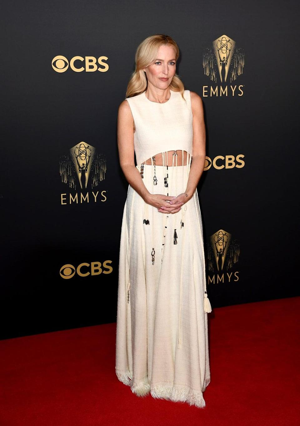 Gillian Anderson at the 2021 Emmys Awards (Gareth Cattermole/Getty Images)