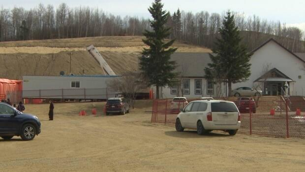Residents are concerned about how much water the Mount Carmel Spiritual Centre development will draw once completed. (Nathan Gross/CBC - image credit)
