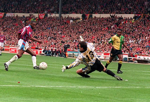 During that time he lifted the League Cup in 1994, scoring against Manchester United in the final. (Photo by Tony Harris - PA Images/PA Images via Getty Images)