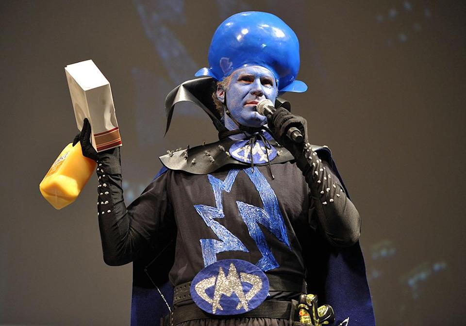 <p>In 2010, Ferrell made quite a stir when he arrived to the <i>Megamind</i> panel at Comic-Con in a handmade costume and blue makeup to portray his character in the film. He also brought donuts and orange juice for the crowd. <i>(Photo by John Shearer/Getty Images)</i></p>