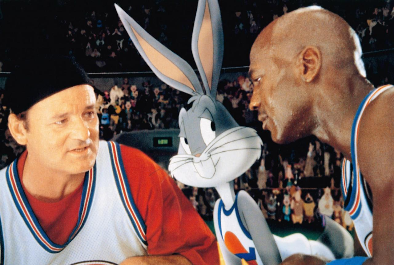 """<p><strong>Space Jam</strong> is a wholesome blend of cartoons and basketball, and who doesn't want to watch the legendary Michael Jordan play hoops with Bugs Bunny?</p> <p><a href=""""https://www.netflix.com/watch/986399?trackId=13752289&amp;tctx=0%2C0%2C603740734a7b35d58a7a81eb3b350999e0e65c12%3A04a8732a6da27091f1d27382be98ff8765828318%2C%2C"""" target=""""_blank"""" class=""""ga-track"""" data-ga-category=""""Related"""" data-ga-label=""""https://www.netflix.com/watch/986399?trackId=13752289&amp;tctx=0%2C0%2C603740734a7b35d58a7a81eb3b350999e0e65c12%3A04a8732a6da27091f1d27382be98ff8765828318%2C%2C"""" data-ga-action=""""In-Line Links"""">Watch <strong>Space Jam</strong> on Netflix</a>. </p>"""