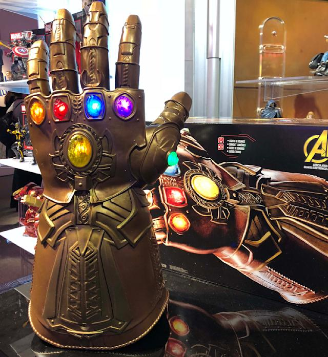 "<p>Flex your fingers, and wield the might of the Infinity Stones, with this full-size replica of the Infinity Gauntlet — soon to be heavily featured in <em><a href=""https://www.yahoo.com/entertainment/tagged/avengers-infinity-war"" data-ylk=""slk:Avengers: Infinity War"" class=""link rapid-noclick-resp"">Avengers: Infinity War</a> — </em>from Marvel Legends and Hasbro. (Photo: Adam Lance Garcia) </p>"