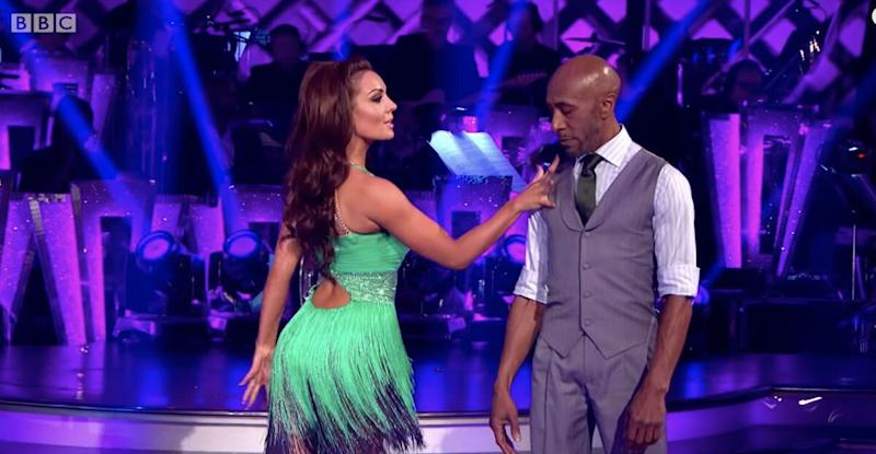 Amy was partnered with actor Danny John-Jules during the latest series of Strictly Come Dancing (Photo: BBC)