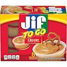 """<p><strong>Jif</strong></p><p>amazon.com</p><p><strong>$21.08</strong></p><p><a href=""""https://www.amazon.com/dp/B0045TJOOK?tag=syn-yahoo-20&ascsubtag=%5Bartid%7C1782.g.4497%5Bsrc%7Cyahoo-us"""" rel=""""nofollow noopener"""" target=""""_blank"""" data-ylk=""""slk:BUY NOW"""" class=""""link rapid-noclick-resp"""">BUY NOW</a></p><p>Pair these with pretzels, apple slices, or celery for an easy to-go snack. </p>"""
