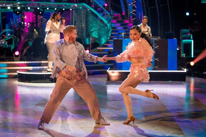 The Strictly dancers have been isolating together. (Photo: BBC)