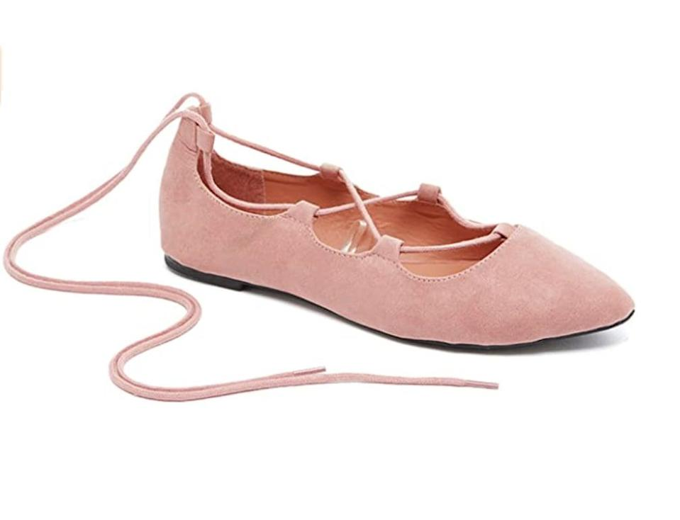 <p>These <span>Charles Albert Ghille Lace-Up Flats</span> ($15) are designed to make you feel comfortable.</p>
