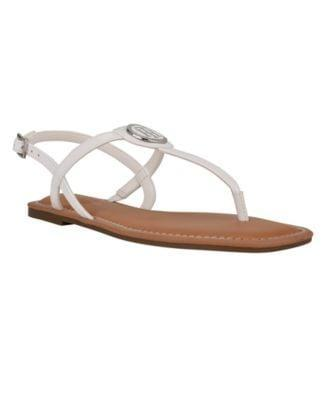 <p><span>Tommy Hilfiger Women's Janae Strappy Flat Sandals</span> ($34, originally $59 (with code FOURTH) )</p>