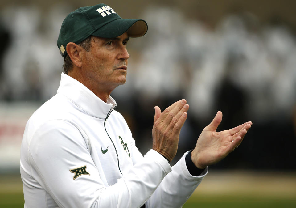 Former football coach Art Briles, former president Ken Starr and former athletic director Ian McCaw each received settlements from Baylor following their dismissal during a massive sexual assault investigation. (Photo by Ron Jenkins/Getty Images)