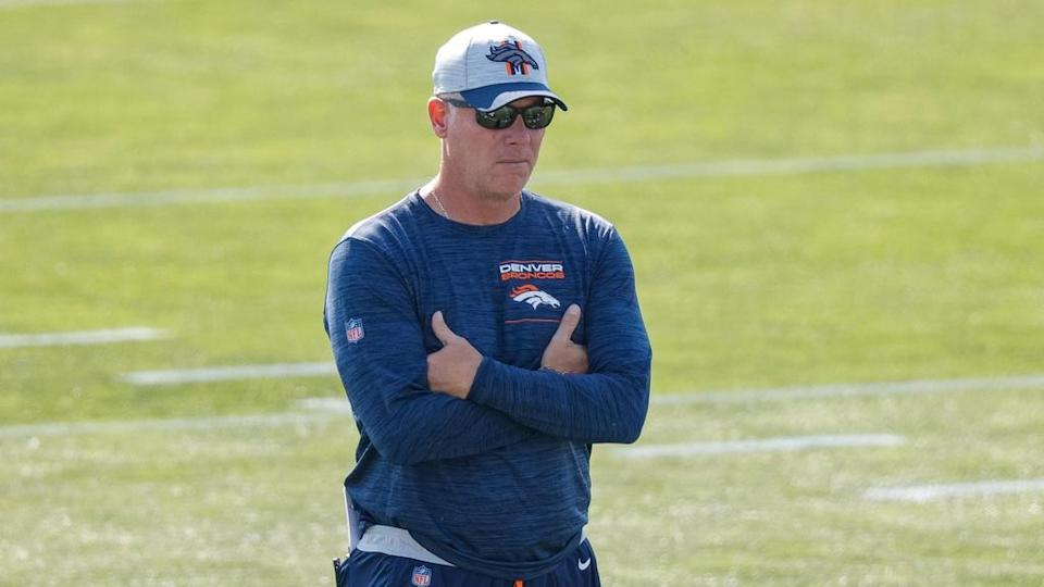 Pat Shurmur Broncos practice arms folded cropped
