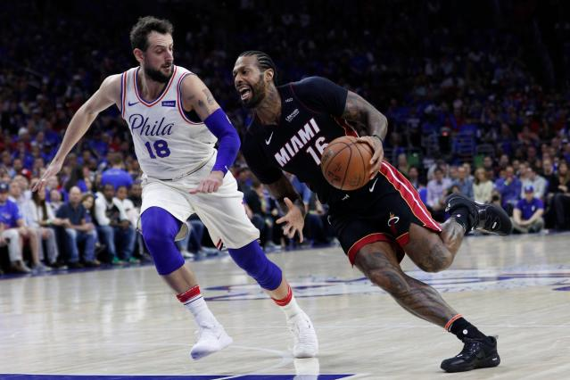 "<a class=""link rapid-noclick-resp"" href=""/nba/players/4621/"" data-ylk=""slk:James Johnson"">James Johnson</a> has been with the Heat for two seasons. (AP)"