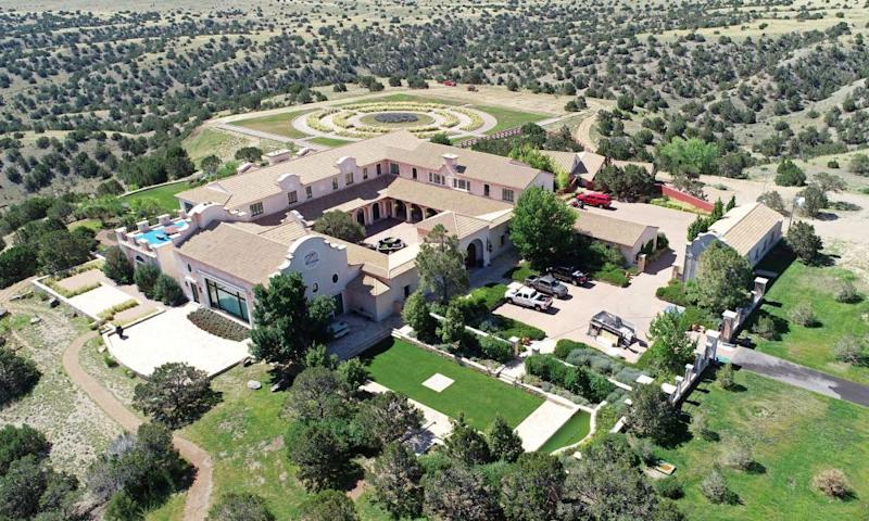 An aerial view of Zorro Ranch, near Stanley, New Mexico.