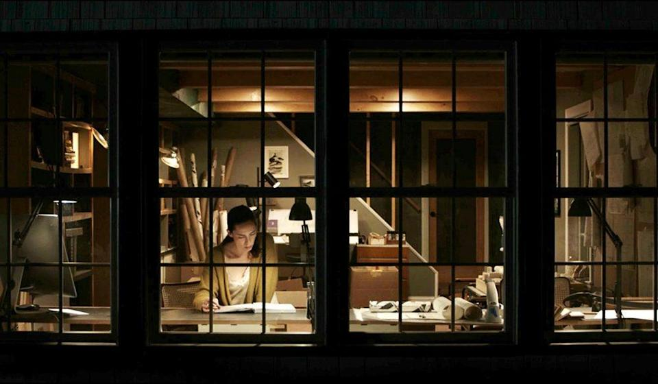 """Windows helped illustrate the voyeuristic themes of """"The Night House."""" - Credit: Photo Courtesy of Searchlight Pictures. © 2021 20th Century Studios All Rights Reserved"""