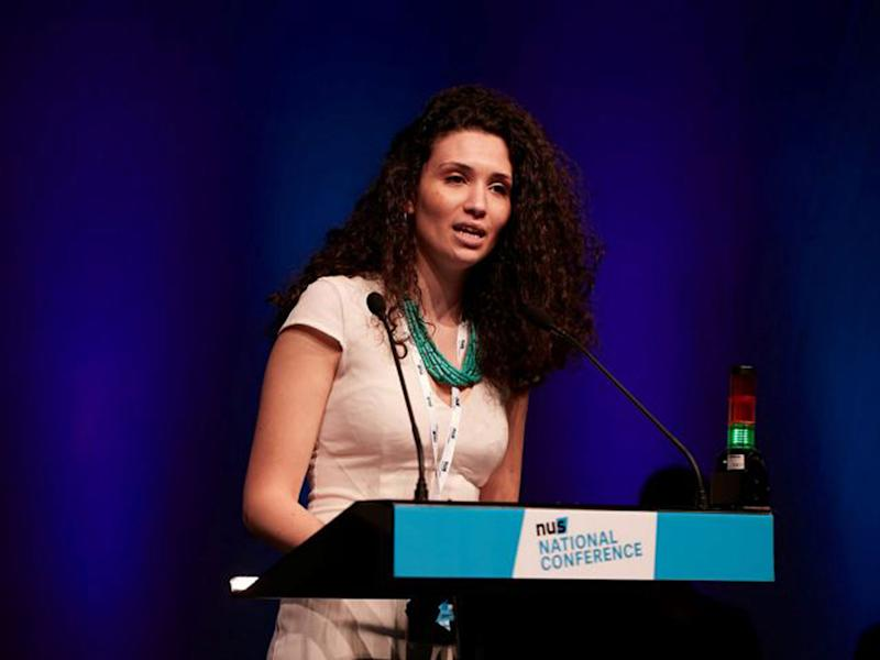 Malia Bouattia helped host a play, titled 'Seven Jewish Children', that has been criticised for being anti-Semitic: PA