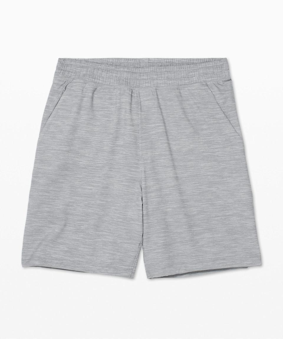 """<p><strong>Lululemon</strong></p><p>lululemon.com</p><p><strong>$68.00</strong></p><p><a href=""""https://go.redirectingat.com?id=74968X1596630&url=https%3A%2F%2Fshop.lululemon.com%2Fp%2Fm-pace-breaker-short%2FPace-Breaker-Short-NF-7-Lined%2F_%2Fprod9310050&sref=https%3A%2F%2Fwww.womenshealthmag.com%2Flife%2Fg33501922%2Funique-gift-ideas-for-men%2F"""" rel=""""nofollow noopener"""" target=""""_blank"""" data-ylk=""""slk:Shop Now"""" class=""""link rapid-noclick-resp"""">Shop Now</a></p><p>He can just as easily pair these with a T for a workout as with a button-up and blazer for a Zoom call and nobody need be the wiser. These lightweight shorts feature a lining and smart pockets to hold his phone and keys. Plus, they come in nine (!!) different colors.</p>"""