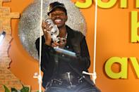 <p>Lil Nas X is all smiles for Logitech's Breaker Awards at Hubble Studio in Los Angeles on Saturday.</p>