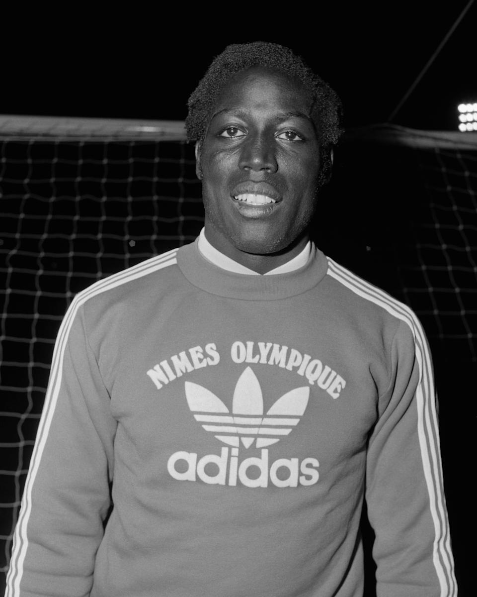 French soccer player from Nimes Olympique Jean-Pierre Adams.   (Photo by Universal/Corbis/VCG via Getty Images)