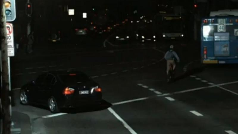 Salim's wife's BMW was caught running a red light. Photo: 7News