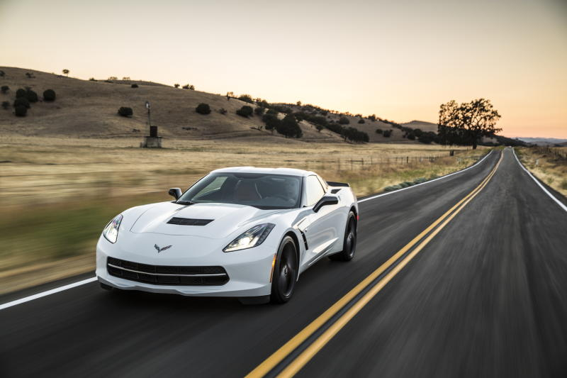 This undated photo provided by Chevrolet/General Motors shows the 2019 Chevrolet Corvette, a car that offers an average savings of about 12% in November. (Courtesy of Chevrolet/General Motors via AP)