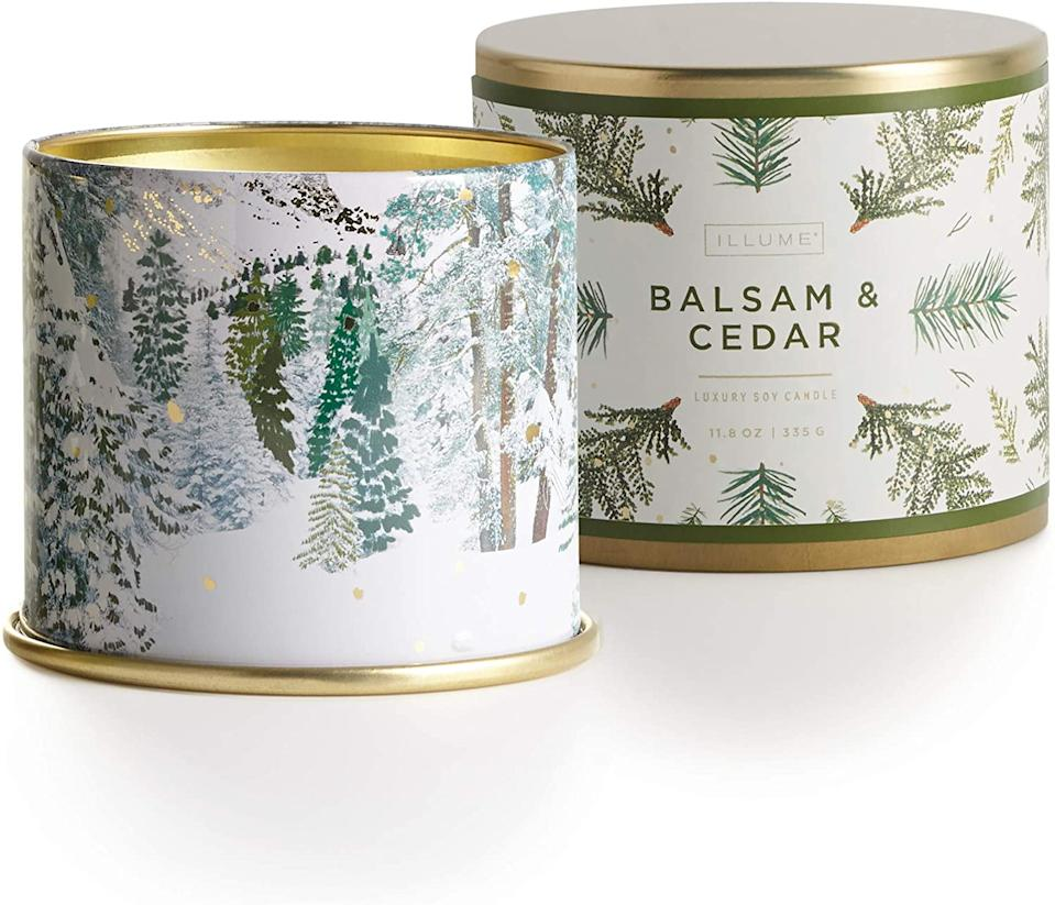 Balsam and Cedar is an affordable holiday candle from Amazon.