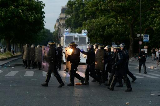 French police arrest 40 for violence around Euro 2016 final: official