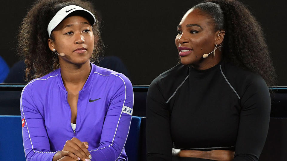 Naomi Osaka and Serena Williams, pictured here at the 2020 Australian Open.