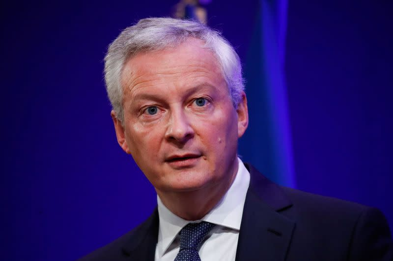 French Economy and Finance Minister Le Maire presents government 2022 budget in Paris
