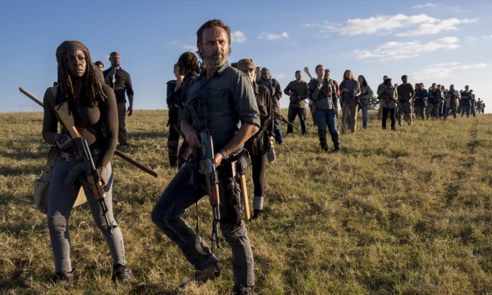 Danai Gurira as Michonne and Andrew Lincoln as Rick in <em>The Walking Dead. </em>(Photo: AMC)