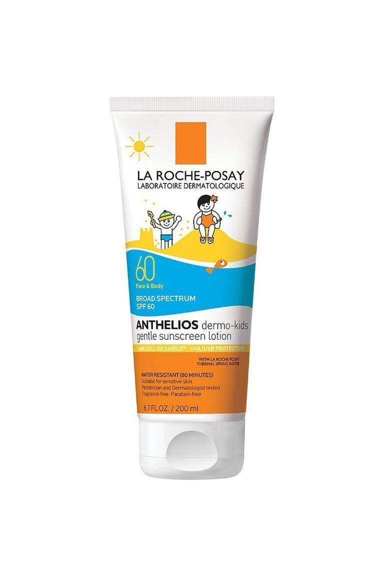 """<p><strong>La Roche-Posay</strong></p><p>bluemercury.com</p><p><strong>$20.00</strong></p><p><a href=""""https://go.redirectingat.com?id=74968X1596630&url=https%3A%2F%2Fbluemercury.com%2Fproducts%2Fla-roche-posay-anthelios-kids-sunscreen-spf-60&sref=https%3A%2F%2Fwww.oprahdaily.com%2Fbeauty%2Fskin-makeup%2Fg27367862%2Fbest-sunscreen-for-kids%2F"""" rel=""""nofollow noopener"""" target=""""_blank"""" data-ylk=""""slk:Shop Now"""" class=""""link rapid-noclick-resp"""">Shop Now</a></p><p>La Roche-Posay makes some of our favorite sunscreens—so it should come as no surprise that the beloved beauty brand also offers a superb option for kids. Formulated without parabens, oils, and fragrances, this gentle sunscreen contains a hardworking blend of SPF 60, deeply hydrating glycerin, and antioxidants, which have additional UV protection. Not to mention that the lightweight formula is very easy to spread, says <a href=""""https://mariwalladermatology.com/"""" rel=""""nofollow noopener"""" target=""""_blank"""" data-ylk=""""slk:Kavita Mariwalla"""" class=""""link rapid-noclick-resp"""">Kavita Mariwalla</a>, MD, a dermatologist based in Long Island, New York.</p>"""