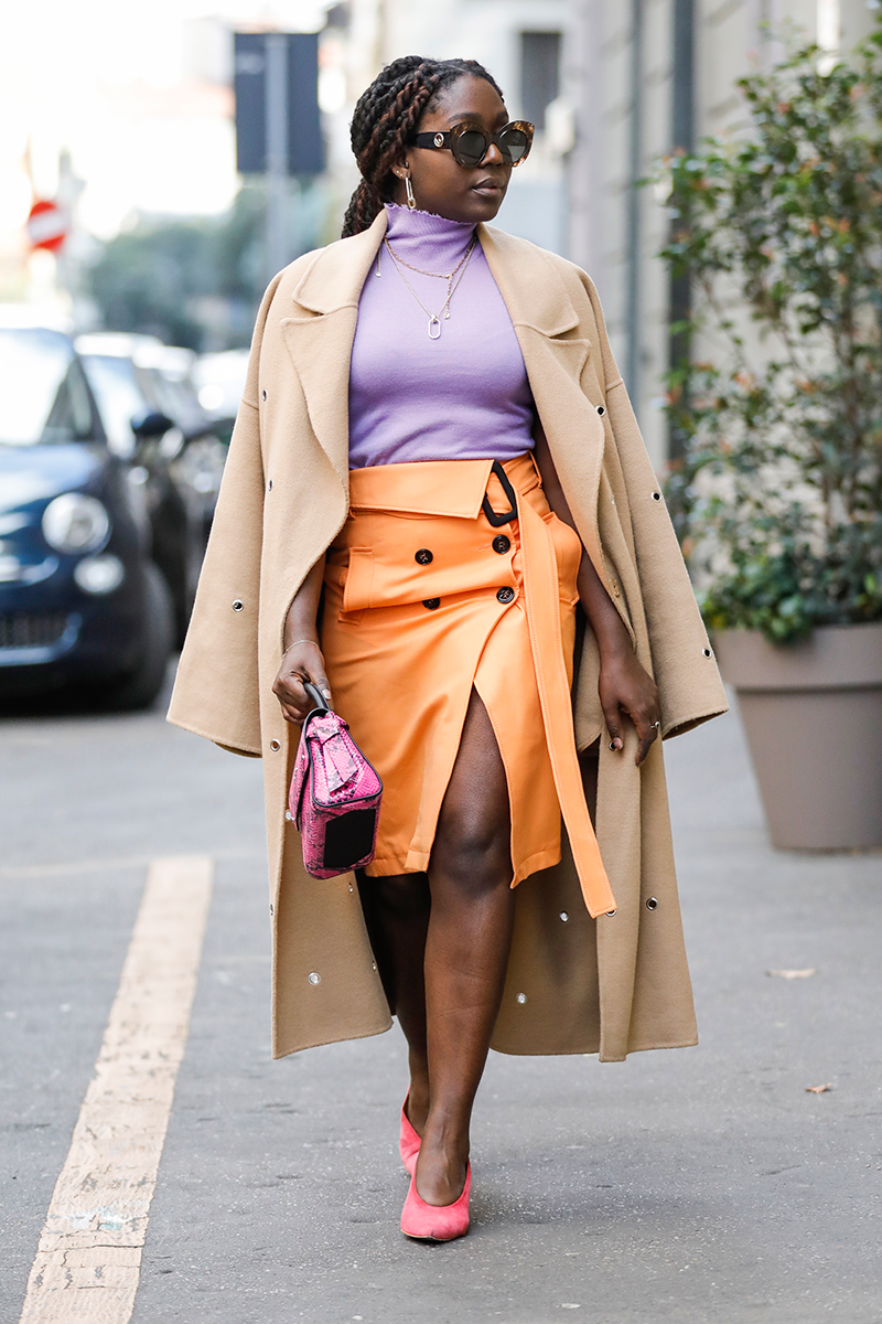 <p>The trench coat has a place in every office capsule wardrobe. Layer over bright separates and accessories to freshen up the classic outerwear piece.</p>