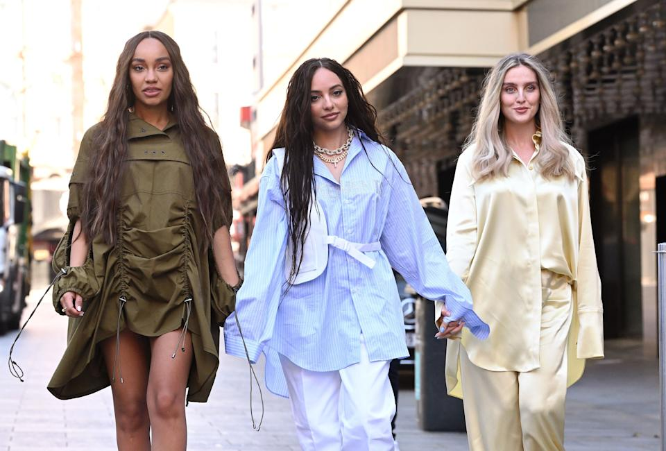 Little Mix singers (L-R) Leigh-Anne Pinnock, Jade Thirlwall and Perrie Edwards pictured last month (Photo: Karwai Tang via Getty Images)