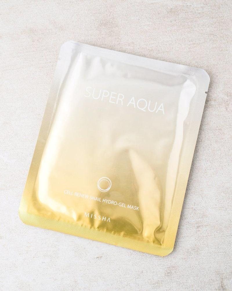 "Get onboard the <a href=""https://www.huffingtonpost.com/entry/snail-essence-skincare_us_593887fbe4b0c5a35c9bdf57"">snail mucin trend</a> with this mask by Super Aqua, which is also infused with gold extracts. Snail mucin is packed with nutrients and can help hydrate skin.<br /><br /><strong><a href=""https://sokoglam.com/products/missha-super-aqua-cell-renew-snail-hydro-gel-mask"" target=""_blank"">Get the Super Aqua Cell Renew Snail Hydro Gel Mask for $6</a></strong>"