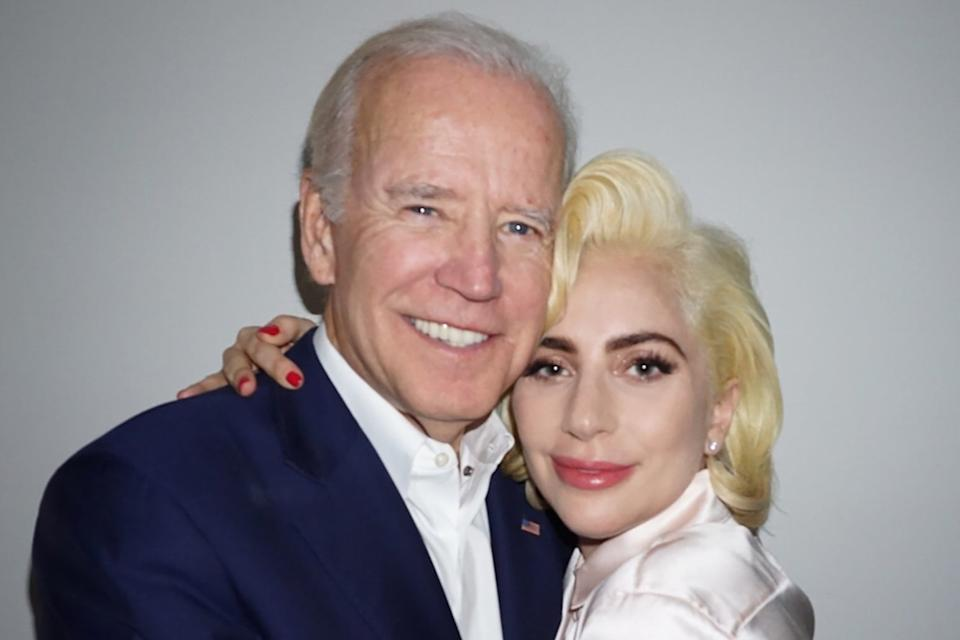 Lady Gaga and Joe Bidenladygaga/Instagram