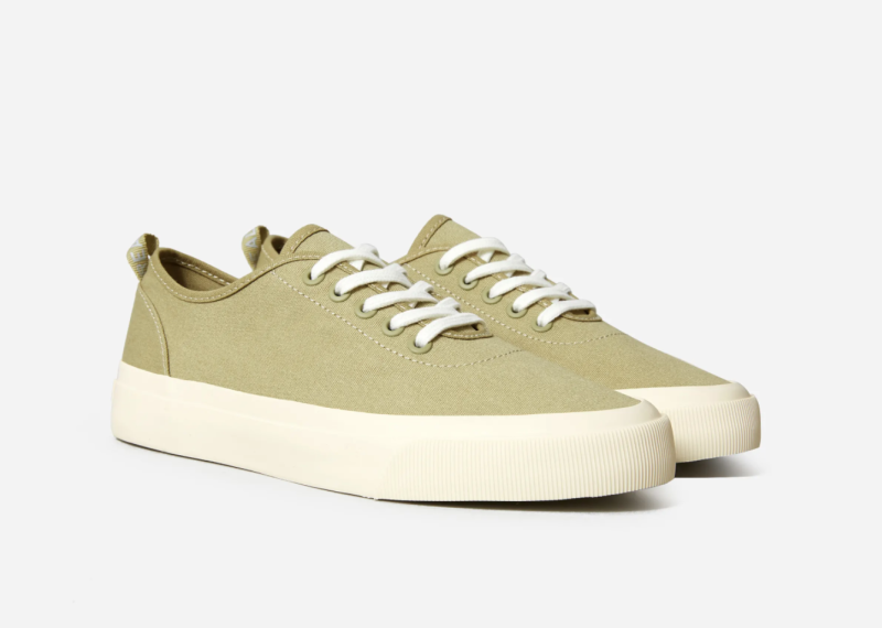 The Forever Sneaker in Sycamore. Image via Everlane.