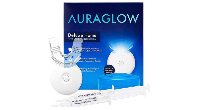 AuraGlow Teeth Whitening Kit, LED Light (Photo: Amazon)
