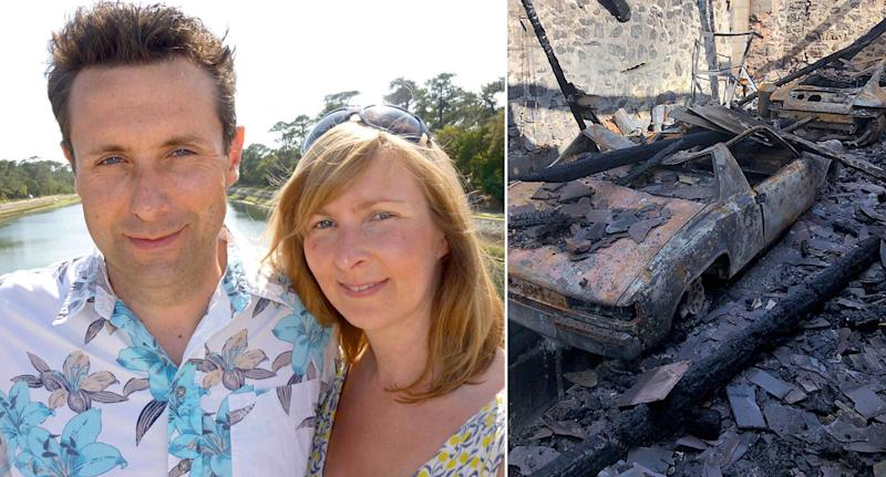 Chris Williams-Ellis was left with terrible burns after a fire broke out as he worked on a car. (Wales News)