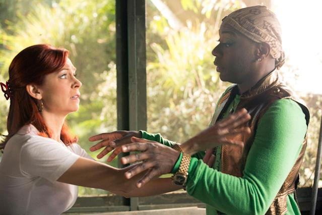 "Carrie Preston and Nelsan Ellis in the ""True Blood"" Season 6 episode, ""Don't You Feel Me."""